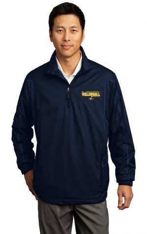 NIKE 1/2 ZIP FULWIND JACKET W/EMBROIDERED SJS VOLLEYBALL LOGO