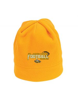 GOLD FLEECE CAP W/SJS FOOTBALL EMBROIDERED LOGO